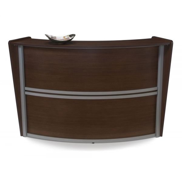 OFM OFM Marque Series Single-Unit Curved Reception Station, Walnut
