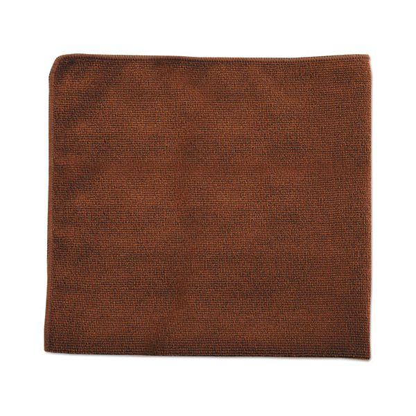 Rubbermaid Commercial Executive Multi-Purpose Microfiber Cloths, Brown, 16 x 16, 24/Pack