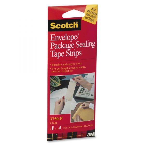 "Scotch Envelope/Package Sealing 2"" Packing Tape Strips"