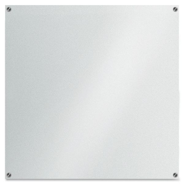 "Lorell 42"" x 42"" Frosted Glass Dry Erase Whiteboard"