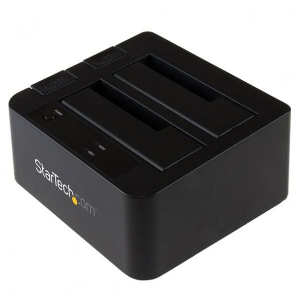 "StarTech.com USB 3.1 (10Gbps) Dual-Bay Dock for 2.5""/3.5"" SATA SSD/HDDs with UASP"