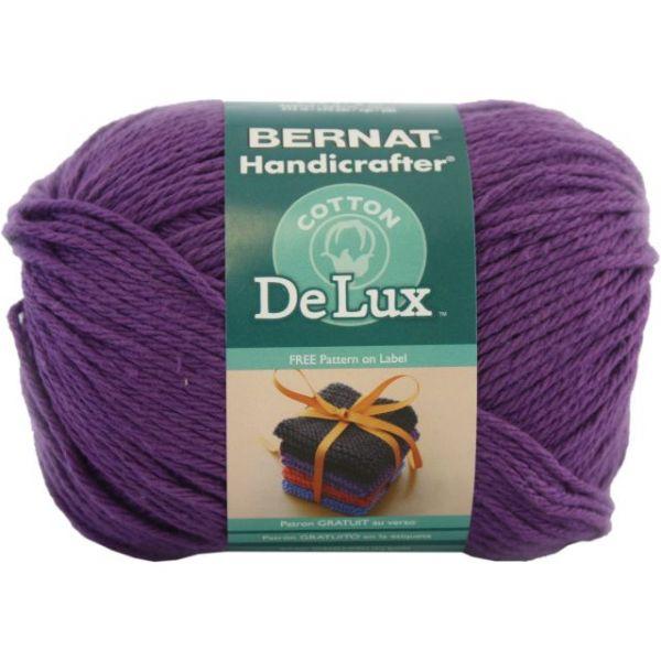 Bernat Handicrafter DeLux Cotton Yarn - Purple