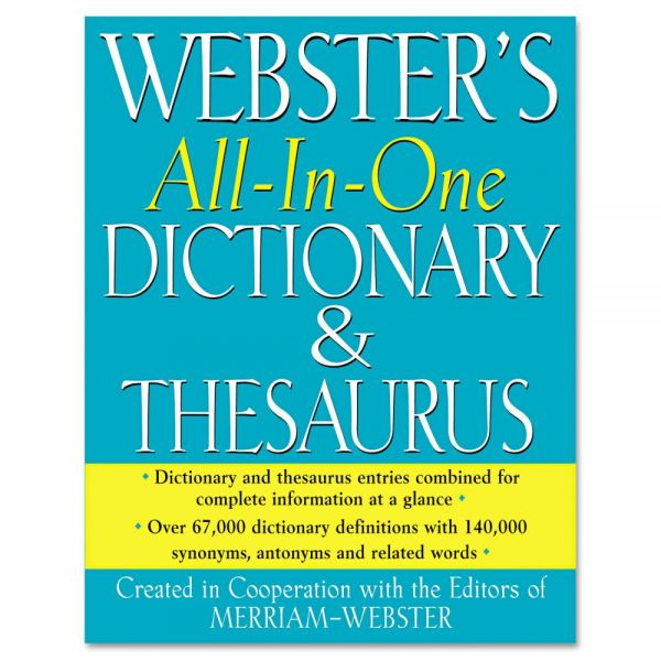 Webster's All-In-One Dictionary & Thesaurus - Second Edition
