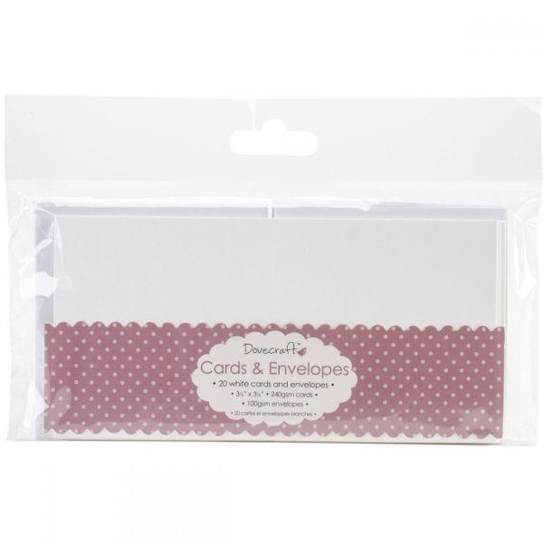"Dovecraft Mini Cards W/Envelopes 3.5""X3.5"" 20/Pkg"