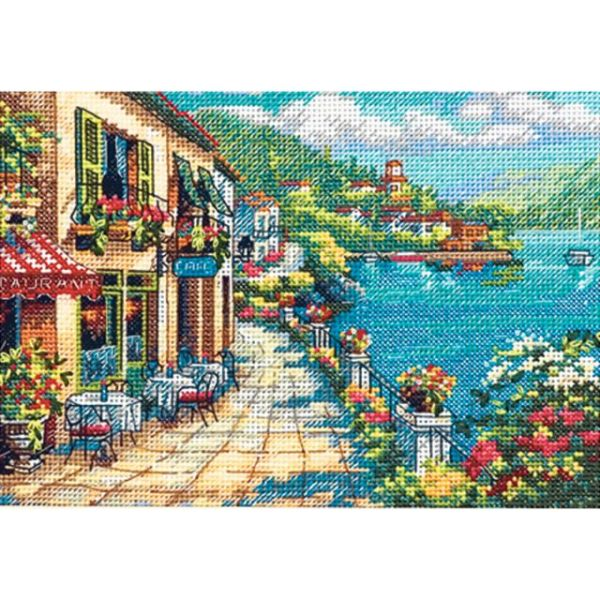 Dimensions Gold Petite Overlook Cafe Counted Cross Stitch Kit