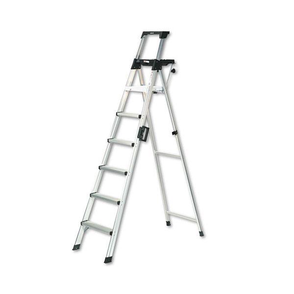 Cosco 8' Lightweight Aluminum Folding Step Ladder with Leg Lock & Handle