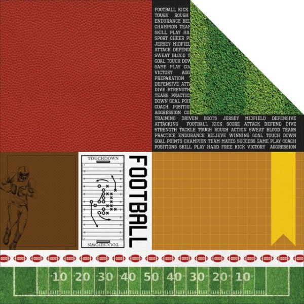 """Game On! Double-Sided Cardstock 12""""X12"""""""