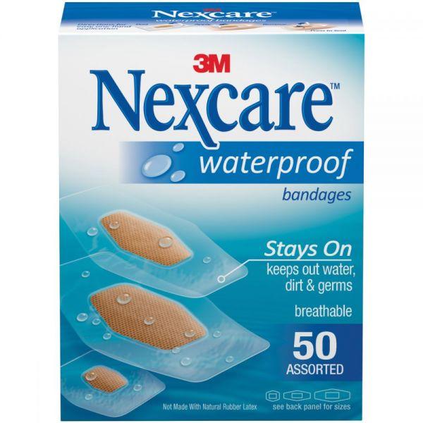 Nexcare Waterproof Bandages 50/Pkg