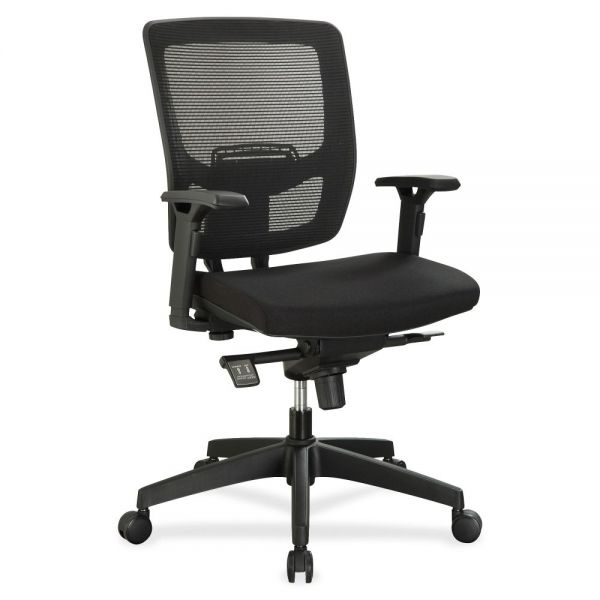 Lorell Executive Mesh Adjustable-Height Mid-Back Office Chair