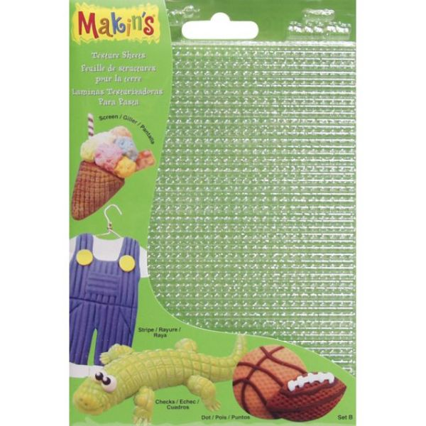 "Makin's Clay Texture Sheets 7""X5.5"" 4/Pkg"