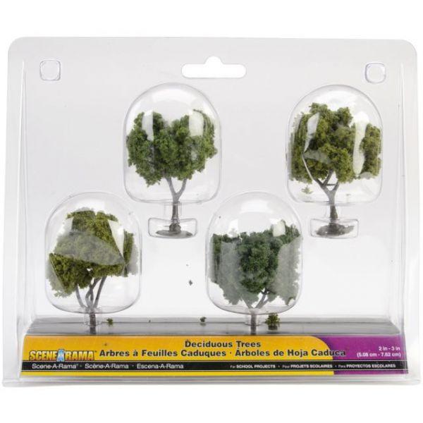 """Deciduous Trees 2"""" To 3"""" 4/Pkg"""