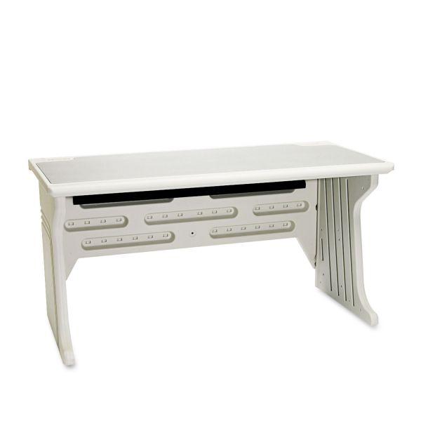 Iceberg Aspira Modular Desk, Resin, 60w x 28d x 30h, Granite/Platinum