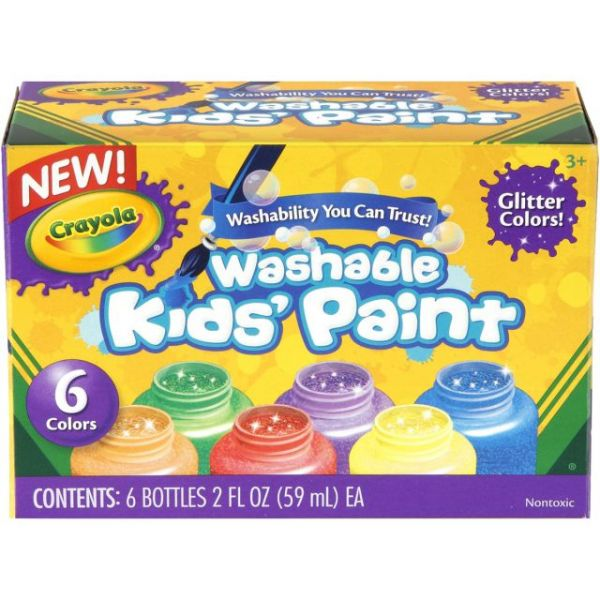 Crayola Washable Kids Paint 2oz 6/Pkg