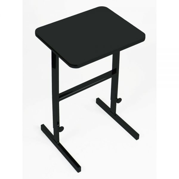 "Correll Adjustable Standing Height Workstation - 20"" x 24"" - Black Granite"