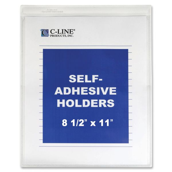 C-Line Self-Adhesive Shop Ticket Holders, Heavy, 50 Sheets, 9 x 12, 50/BX