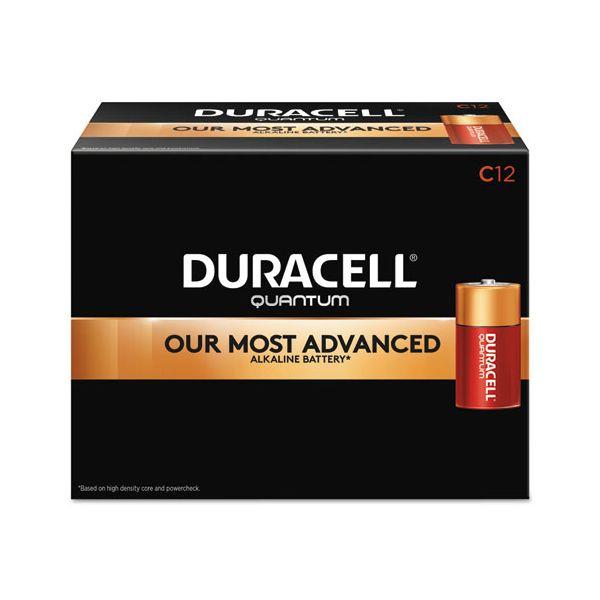 Duracell Quantum Alkaline Batteries, C, 12/BX