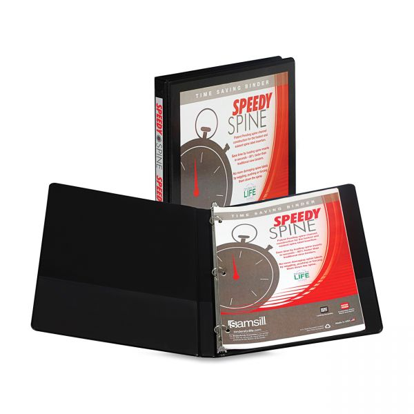 "Samsill Speedy Spine 1/2"" 3-Ring View Binder"