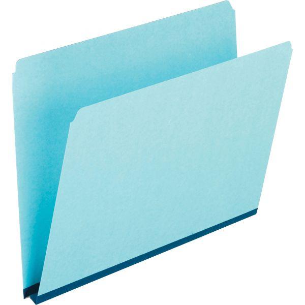 Pendaflex Pressboard Expanding File Folders, Straight Cut, Top Tab, Letter, Blue, 25/Box
