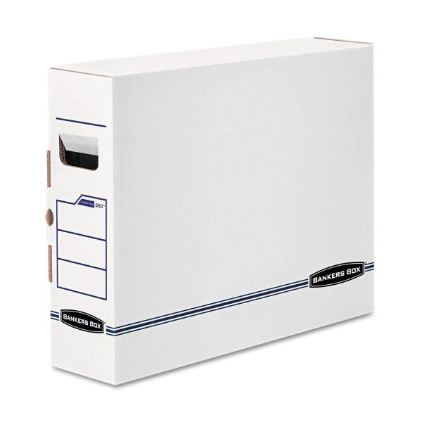 Bankers Box X-Ray Storage Box, Film Jacket Size, 5 x 19 3/4 x 14 7/8, White/Blue, 6/Carton