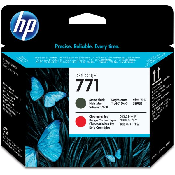 HP 771 Matte Black/Red Printhead (CE017A)