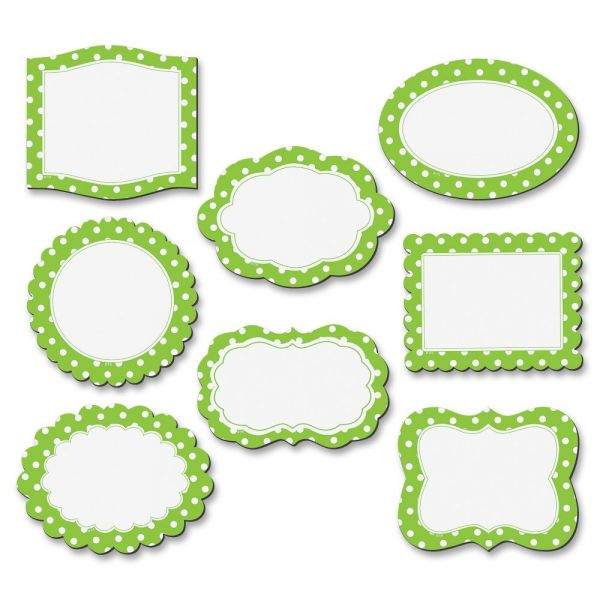 Teacher Created Resources Lime Polka Dots Magnetic Frames
