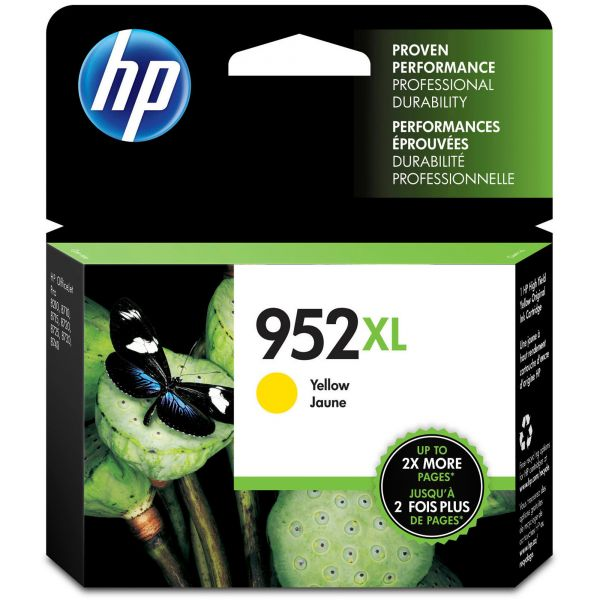 HP 952XL Yellow Ink Cartridge (L0S67AN)