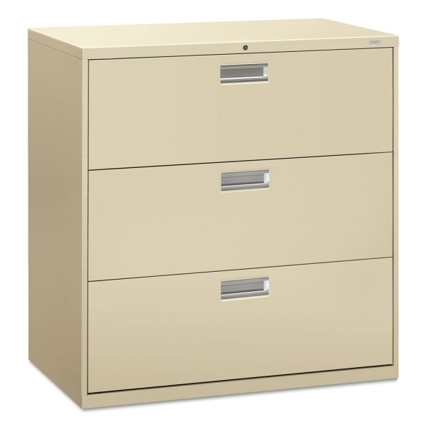 "HON Brigade 600 Series Lateral File | 3 Drawers | 42""W"