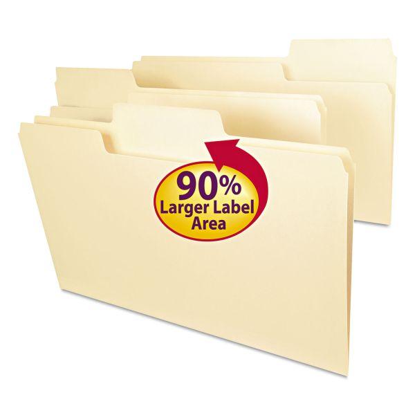 Smead SuperTab File Folders, 1/3 Cut Top Tab, Legal, Manila, 100/Box