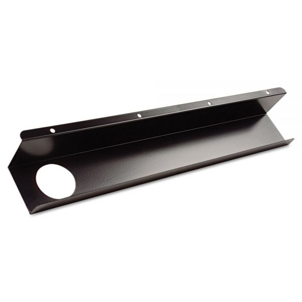 BALT Split-Level Training Table Cable Tray, Metal, 21-1/2w x 3d, Black, 2/Pack