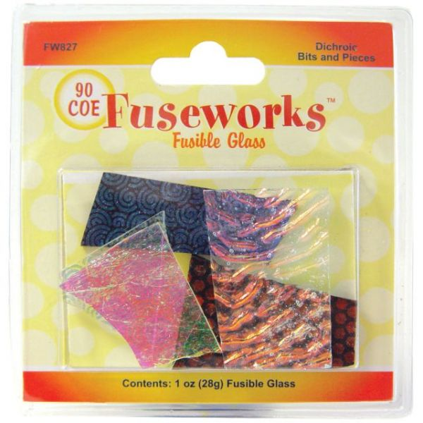 Fuseworks Dichroic Glass Bits 1oz
