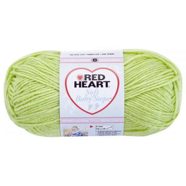 Red Heart Soft Baby Steps Yarn - Lime