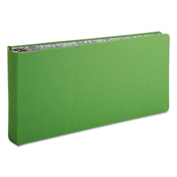 "Oxford Green Canvas Legal Ring Binder, 2"" Cap, 14 x 8 1/2, Green"