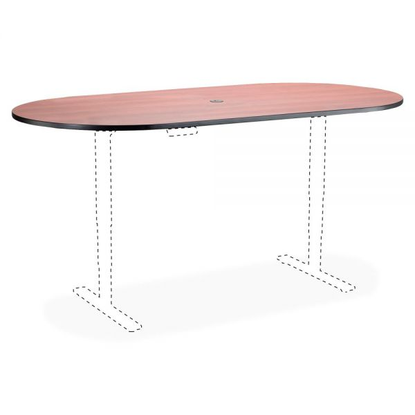 Safco Electric Table Cherry Lam. Racetrck Tabletop