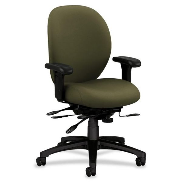 HON Unanimous 7628 Series Mid-Back Office Chair with Seat Glide