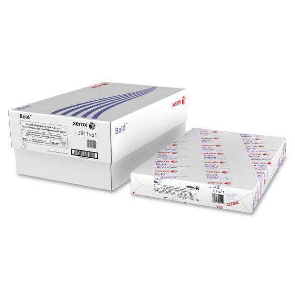 Xerox Gloss Digital Elite Laser Paper, 11 x 17, 94 Bright, 80lb, White, 500 Shts/Ream