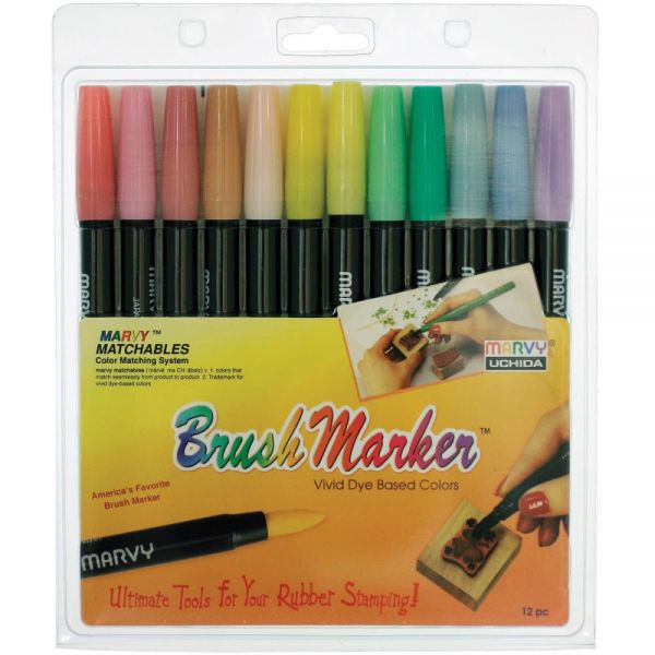 Marvy Brush Marker Set