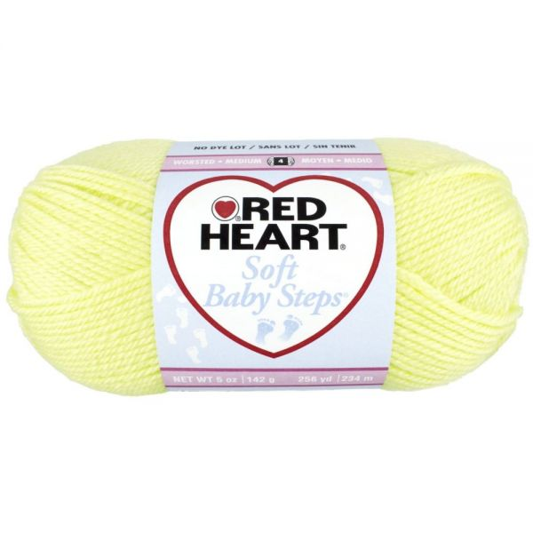 Red Heart Soft Baby Steps Yarn - Baby Yellow