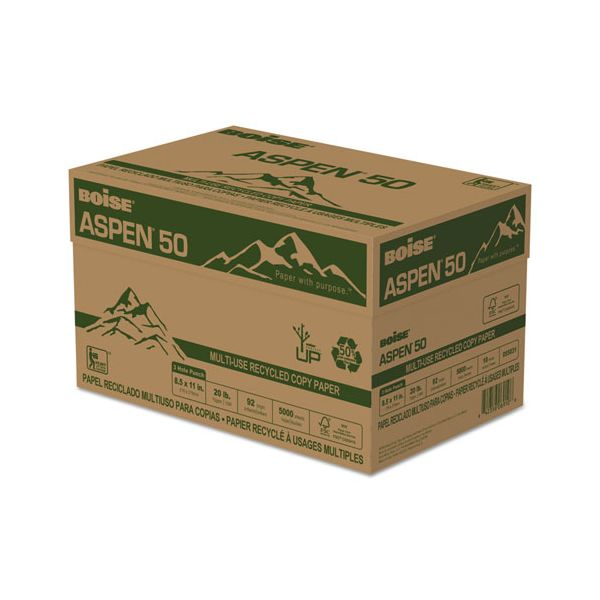 Boise ASPEN 50 Recycled White Copy Paper