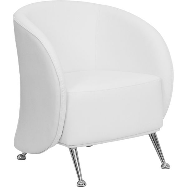 Flash Furniture Jet Series White Leather Reception Chair