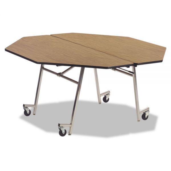 Virco Mobile Octagonal Folding Table