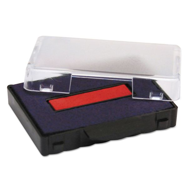 Identity Group Trodat T5430 Stamp Replacement Ink Pad, 1 x 1 5/8, Blue/Red