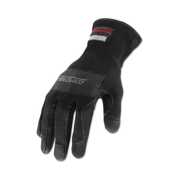 Ironclad Heatworx Heavy Duty Gloves, Black/Grey, Medium