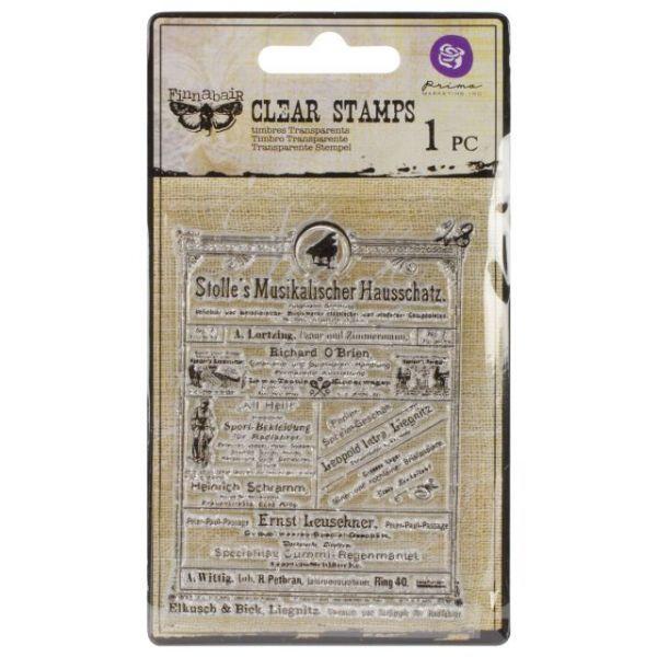 """Vintage Vanity Clear Stamps 3""""X4"""""""