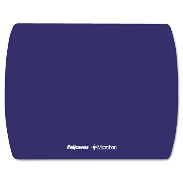 Fellowes Microban Ultra Thin Mouse Pad, Sapphire Blue