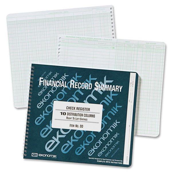 Ekonomik Check Register Forms