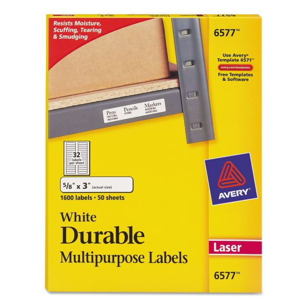 Avery Permanent Durable Multipurpose Labels