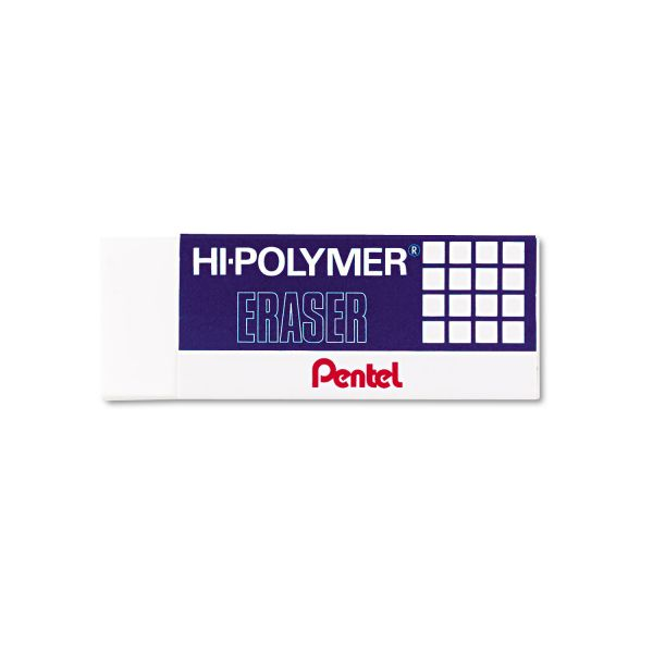 Pentel Hi-Polymer Block Eraser, Three Per Pack
