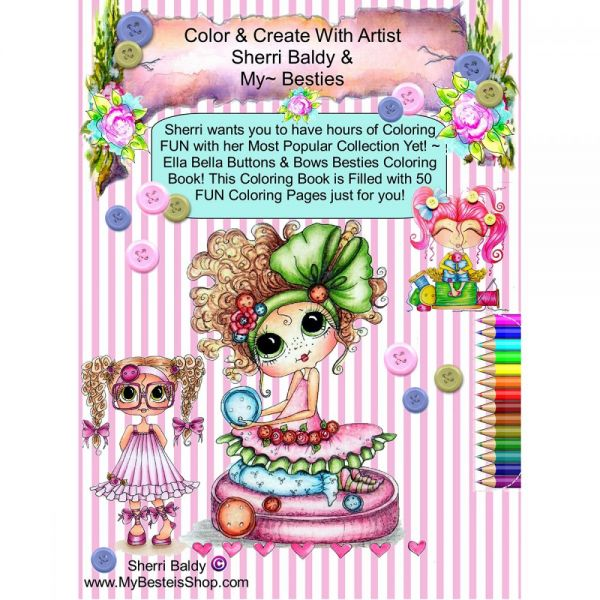"""My Besties Coloring Book 5.25""""X8"""" 50 Pages"""