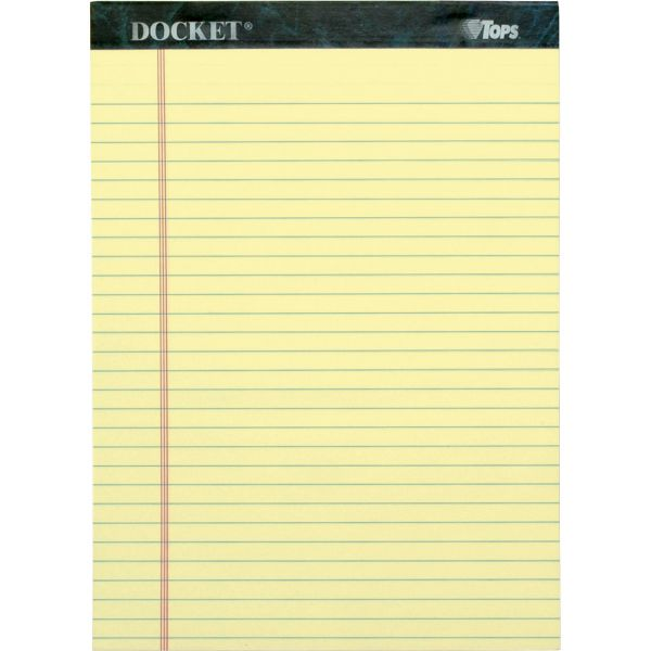 TOPS Docket Letter-Size Yellow Legal Pads