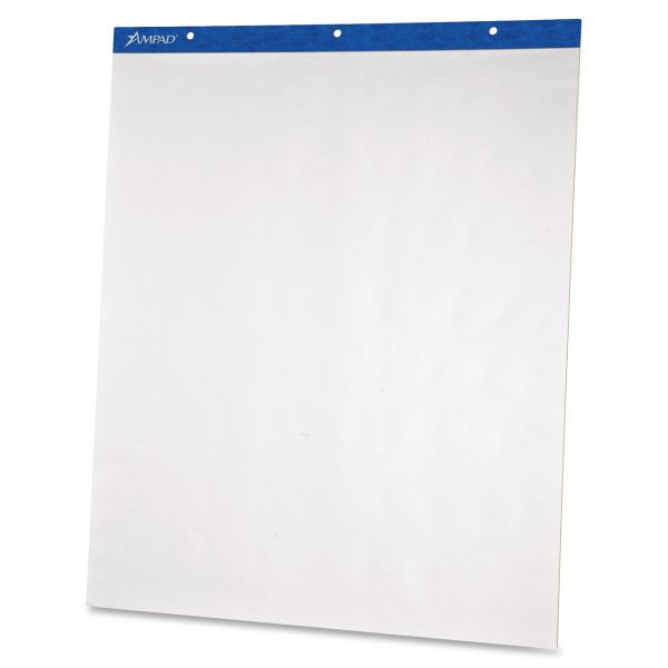 Ampad Flip Charts, Unruled, 20 x 25 1/2, White, 50 Sheets, 2/Pack